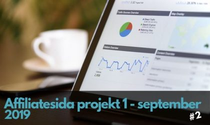 Affiliatesida projekt 1: Uppdatering för september
